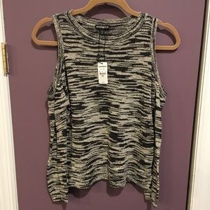 NWT Express Cold Shoulder Sweater