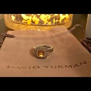 DY Petite Albion Ring with Citrine and Diamonds