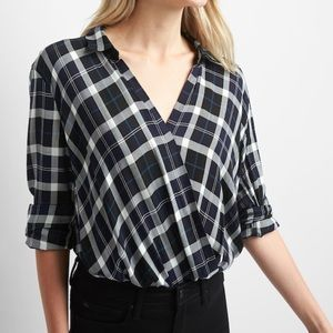 Brand new wrap top from Gap.