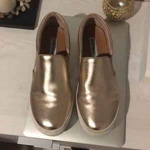 Steve Madden rose gold sneaker slides