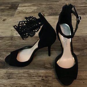[Nordstrom] Jessica Simpson open toe suede heels