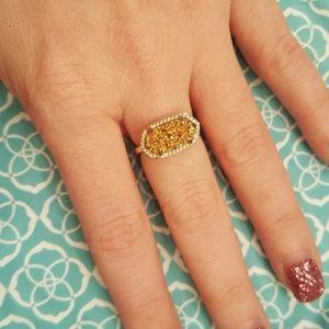 Kendra Scott Druzy ring in gold