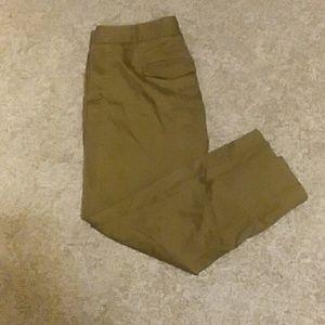 Mustard J Crew crop pants