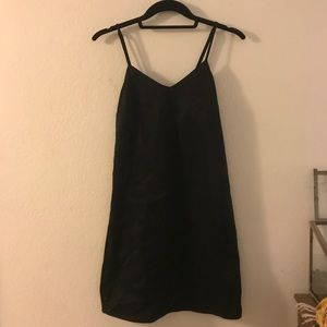 H&M black silky slip dress spaghetti strap