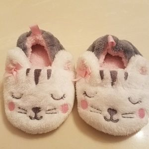 Other - Kitty Cat Pink White Gray Babygirl Slippers