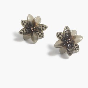 J. Crew • Floral Burst Pavé Earring