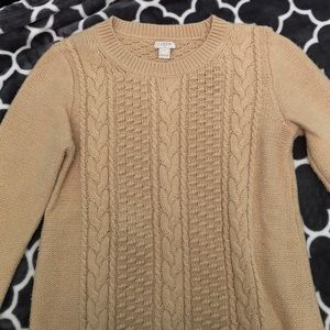 J. Crew Beige Cable-Knit Sweater