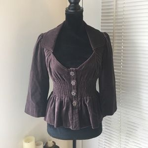 NWT Elevenses velvet blazer (Anthropologie)
