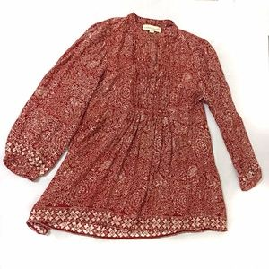 Natalie Martin Women's Silk Blouse Size Small Red