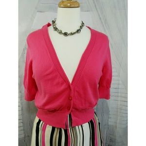 💘Express cropped cardigan hot pink!