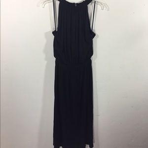 LOFT size Small Black Midi Dress
