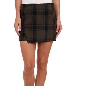 Free People midrise plaid mini skirt size 0