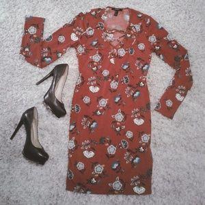 FOREVER 21 Boho Bodycon Mini-dress