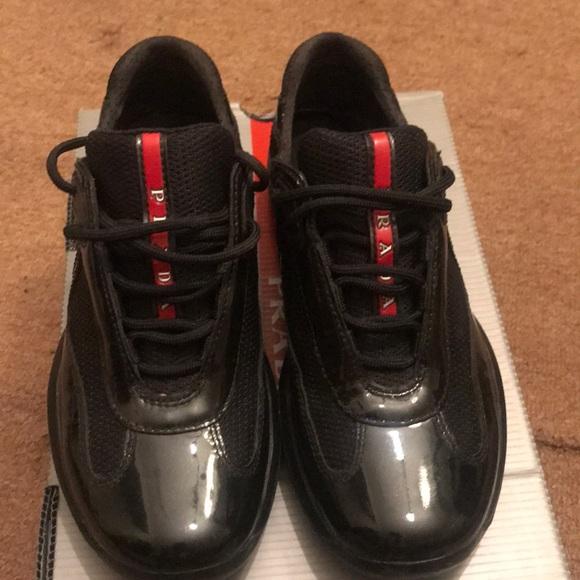 5f7c1c1a AUTHENTIC ‼️ patent leather Prada sneakers