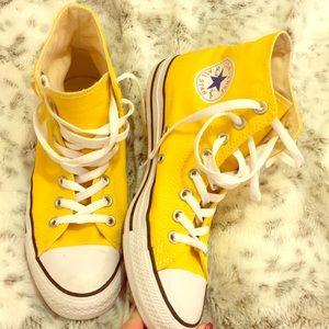 Yellow High Top Converse💛