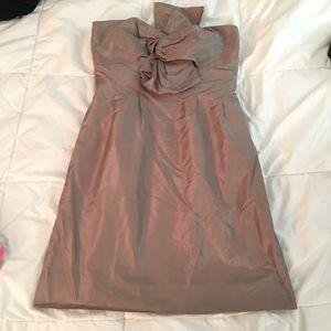 J. Crew strapless dress with silk