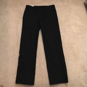 NWT Izod Black flat front pants size 14 husky