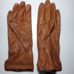 H&M Cognac Leather Gloves