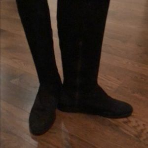Cynthia vincent over the knee suede boots.