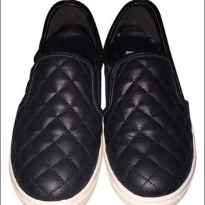 Steve Madden Quilted Leather Slip On Sneakers