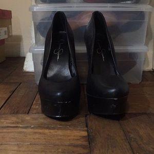 Black high heel Jessica Simpson heels