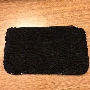 Handbags - Faux fur makeup bag