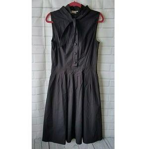 eShakti black tank dress button down tie neck 12
