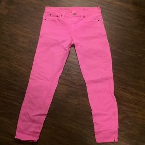 Pink J. Crew toothpick jean