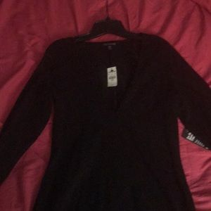 **BNWT Express Black V-Neck long sleeve dress**