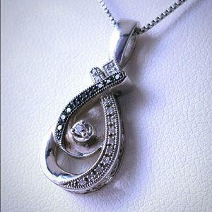 Kay Jewelers black and white diamond necklace