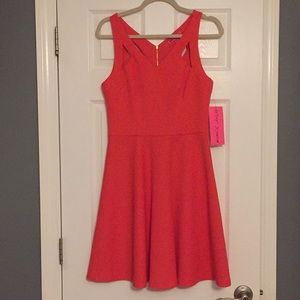Betsey Johnson sz 6 orange dress Never worn tag on
