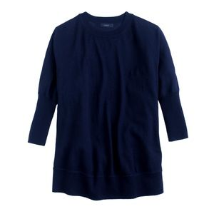 J. Crew XS Merino Wool Navy Swing Sweater