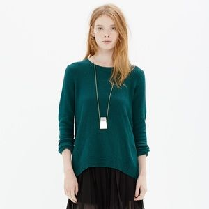 [MADEWELL] teal sweater with back zipper detail