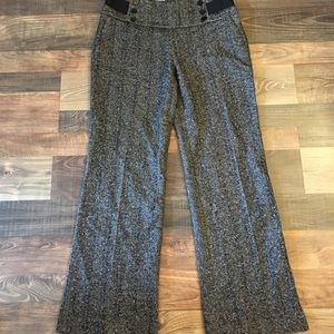 Zara Herringbone Wool Pants