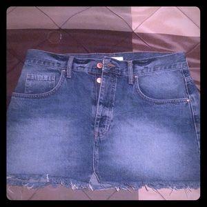 Blue jean skirt