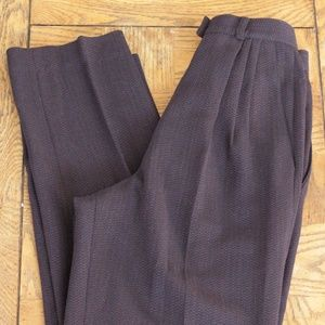 Pants - Purple High Waisted Pleated Dress Pants