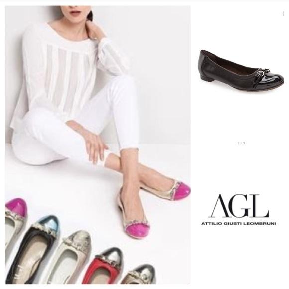 ead962e4737b0 Agl Shoes | Beautiful Cap Toe Leather Ballet Flats 395 | Poshmark