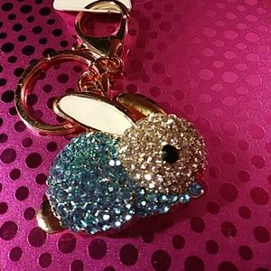 Sweet Bunny keychain or purse jewelry new