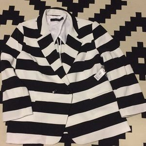 Black/white striped blazer from Limited. L.