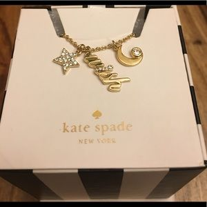 KATE SPADE 12k Gold Plated Love Charm