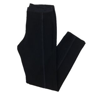 TIBI SILK TRIM PANT, BLACK_#126-42