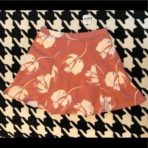 Lush floral skirt NEW size L mauve & cream