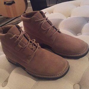 Cole Haan tan suede boots
