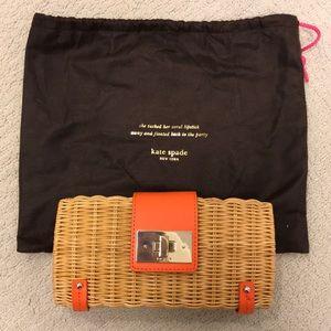 Kate Spade Beautiful leather and Rattan purse