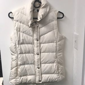 J. crew creme quilted puffer vest size S