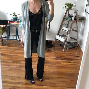Vintage Pale Blue Button Up Long Cardigan Duster