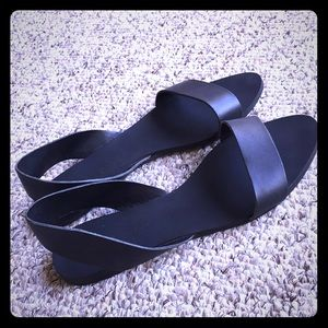 Zara Black Slingback Sandals