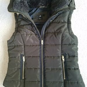 Brown H&M Puffer Vest