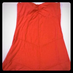 Guess Strapless Coral Dress Size Large