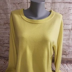 Yellow/Green Fitted sweater